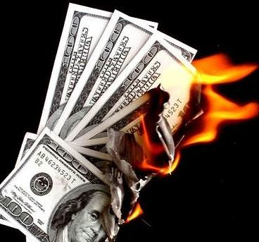 Image result for burning cash