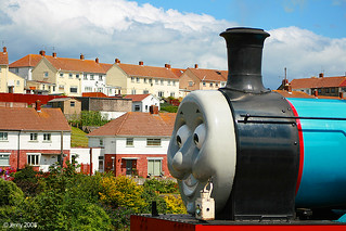 I'l be back said Thomas as he chugged out of the station and past the houses.... | by welshlady