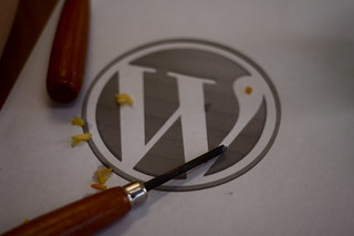 carving tools and wp logo | by bionicteaching