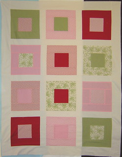 Baby girl quilt top | by alissahcarlton