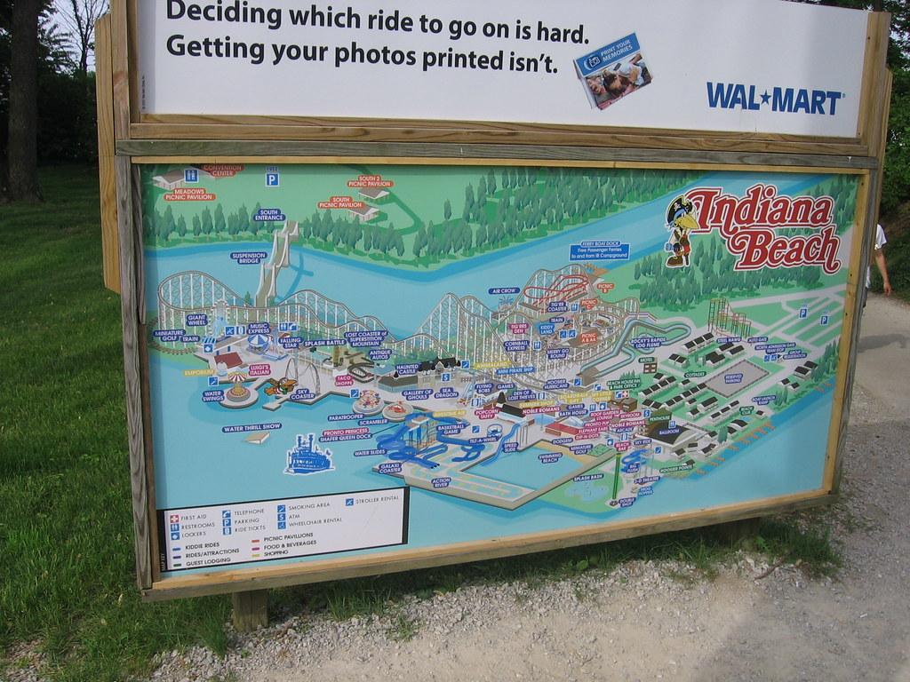 Indiana Beach 2008   Indiana Beach\'s park map.   Edward Beavers   Flickr