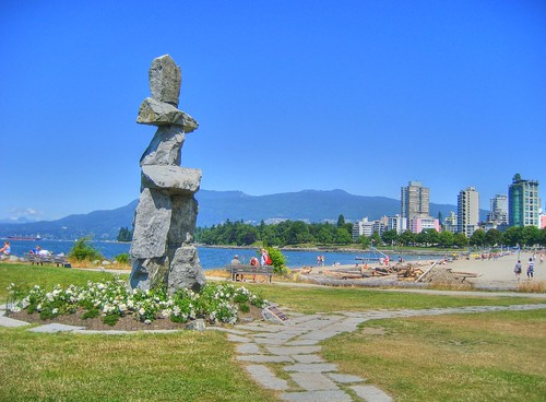 Inukshuk Beside English Bay Beach | by keepitsurreal