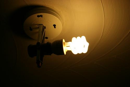 Fluorescent Light Fixture Above Kitchen Sink