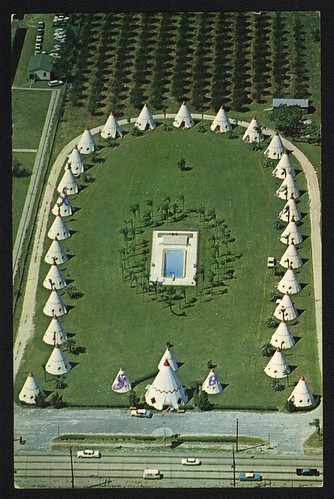 Wigwam Village 4 1964 With Pool What A Great Postcard