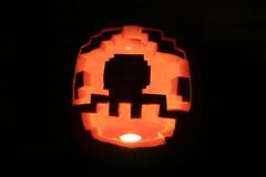 NES Mario Mushroom Pumpkin Jack O Lantern