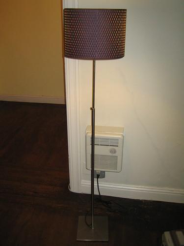 Ikea alang floor lamp nickel plated brown 12quot width x 46 for Ikea floor lamp 46 inch white