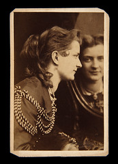 CDV of a woman posed with a mirror | by ricksoloway