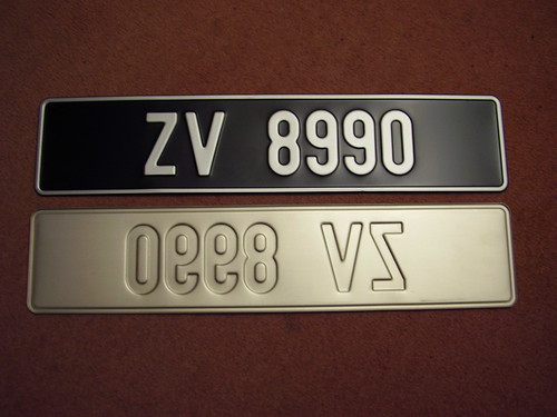 irish number plates 003 non reflective zv series over. Black Bedroom Furniture Sets. Home Design Ideas