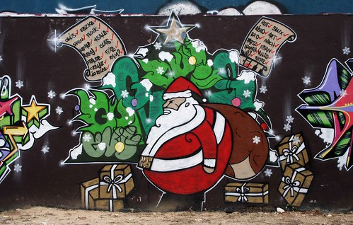Santa Claus Graffiti Hall of Fame in Amoreiras, Lisbon | by Graffiti Land