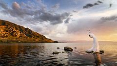 Bride at The Great Salt Lake | by calanan