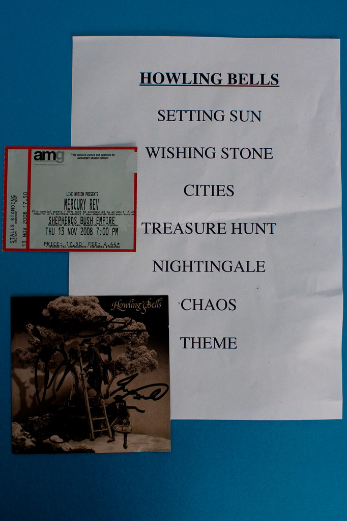 Howling Bells setlist   The setlist for Howling Bells, suppo…   Flickr