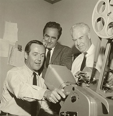 Bill Hanna and Joe Barbera in the editing room | Joe and Bil… | Flickr