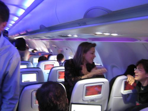 Virgin America Flight  Food Service
