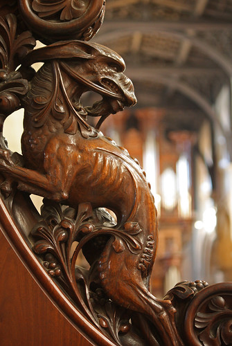 Monster in the cathedral seen chancel of christ