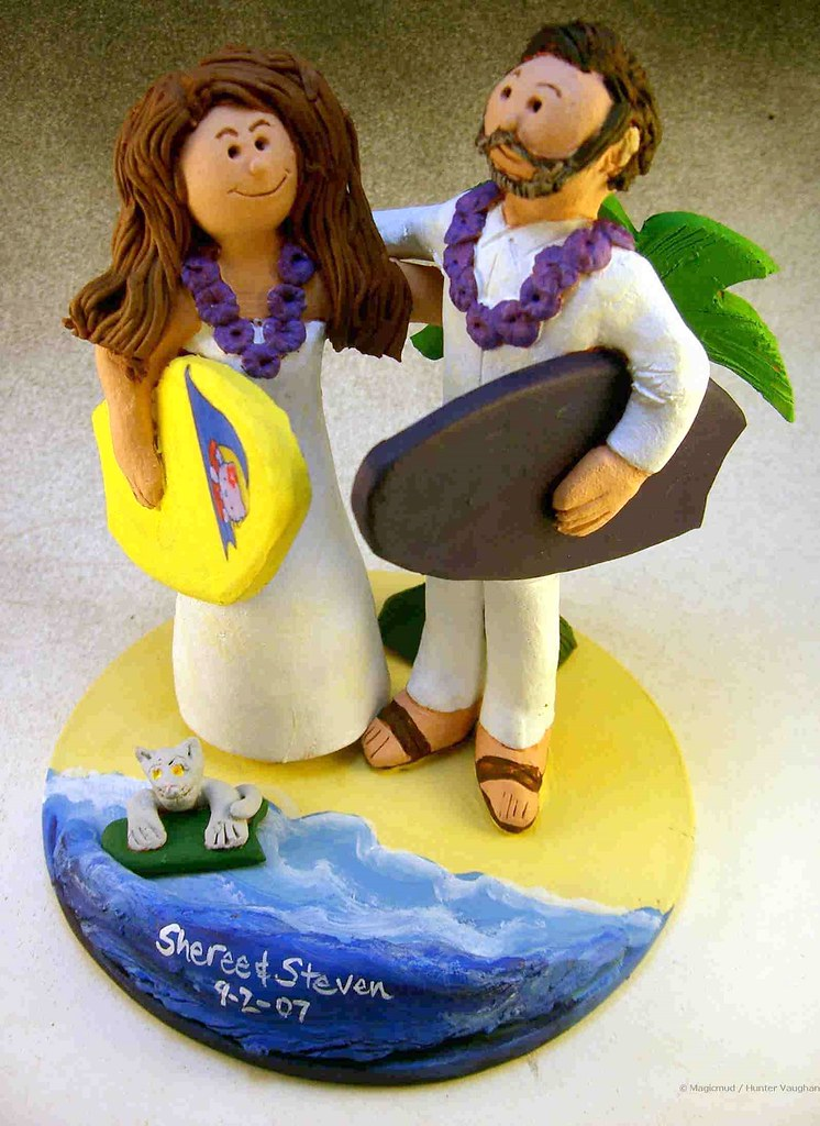 Wedding Cake Topper for a Surfing Couple | Wedding Cake Topp… | Flickr
