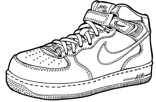 ... Nike Air Force One Mid   Drawing | By O Abnormal