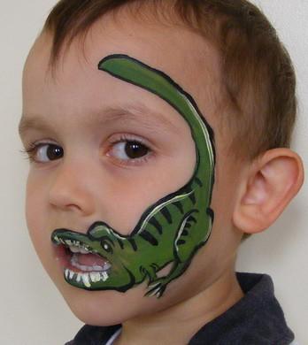 Simple Dinosaur Face Painting Ideas