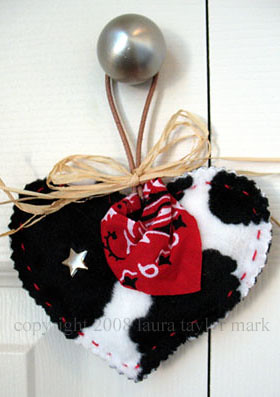 A Cowgirl's Heart - western themed ornie | by laura*tm