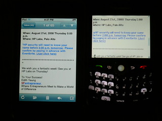 iPhone and Blackberry HTML email Comparison | by Dave Mathews
