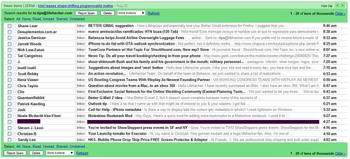 Lifehacker's tips inbox this morning | by ginatrapani