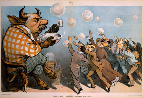 "No Known Restrictions: ""Wall Street Bubbles; - Always the Same"" / J. Ottmann Lith. Co, 1901 (LOC) 