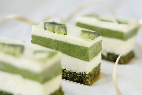 Matcha and white chocolate mousse cake | by andrea ♥