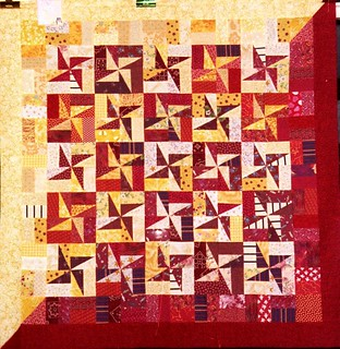T-Red & Yellow Spinners | by Linda Rotz Miller Quilts & Quilt Tops