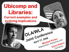 UbiComp WLA-OLA 2008 Intro Slide | by libraryman