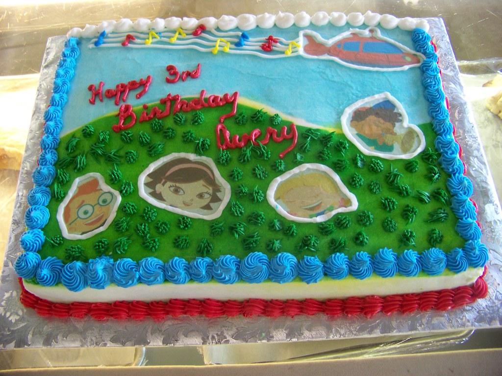 Little Einstein Birthday Cake A 12 Sheet White Cake Cover Flickr