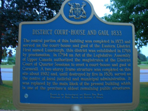 Cornwall District Courthouse & Jail Marker | by jimmywayne