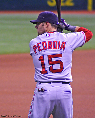 Warmup_Pedroia | by Troy Thomas