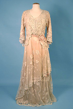 1914 Brussels Lace Tea Gown | by Sacheverelle