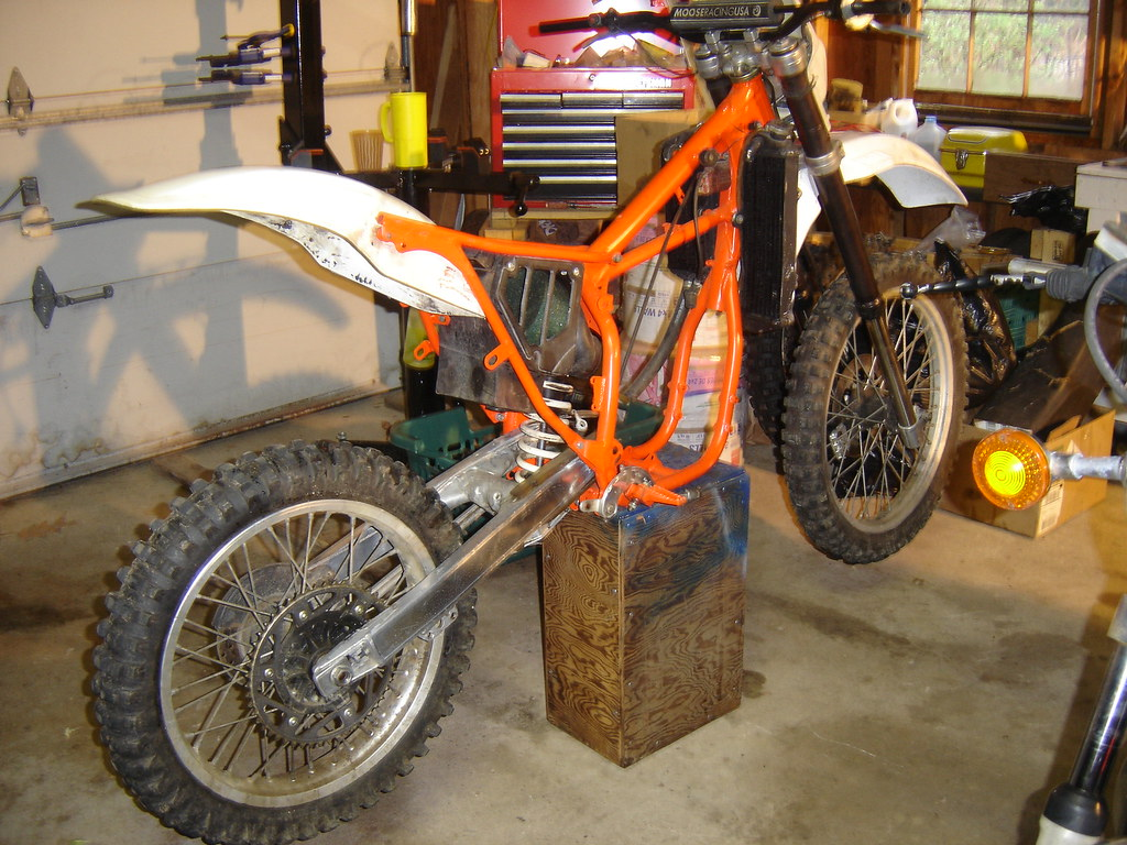 1988 ktm 500mx dirtbike fresh painted frame by evanfell - Dirt Bike Frame