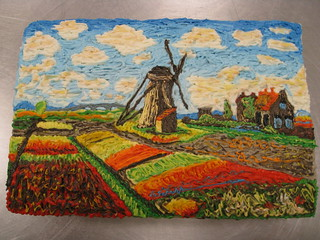 Claude Monet Tulip Fields With The Rijnsburg Windmill | by megpi