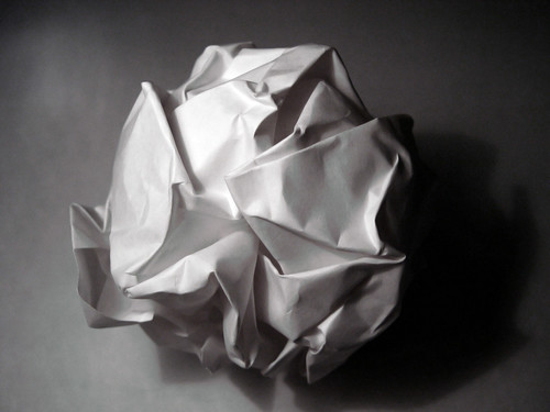 A Crumpled Paper Ball | by Turinboy