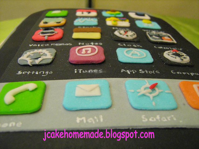 Fine Iphone Birthday Cake Free Hand Mold Edible Features J Flickr Funny Birthday Cards Online Aeocydamsfinfo
