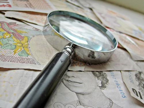 British Money and magnify glass | by Images_of_Money