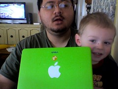 Caden and I at the iMac | by Chris.G.503
