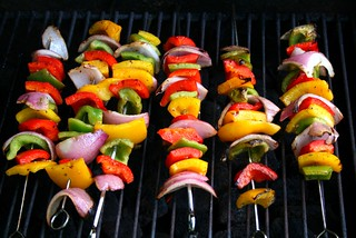 bbq grilled skewered veggies | by natashalcd