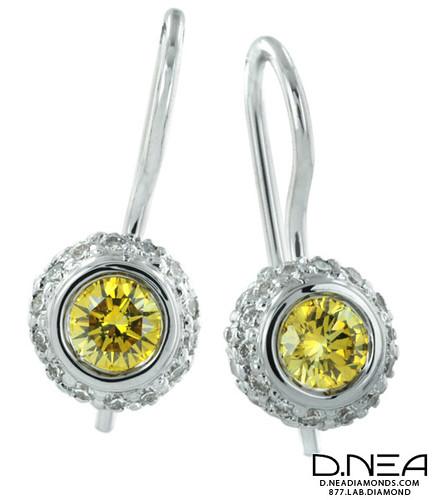 Bezel Set Diamond Necklace White Gold