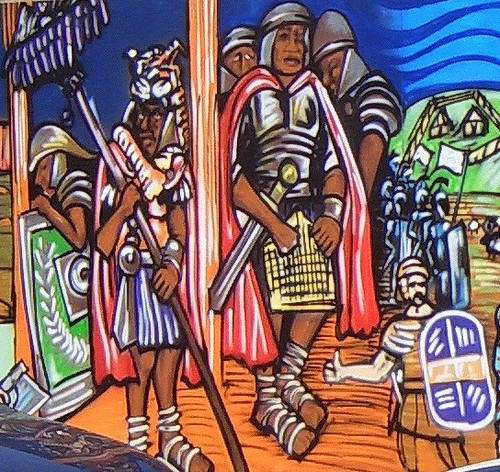 Roman Soldiers from Christina St mural | by nephropsnorvegicus