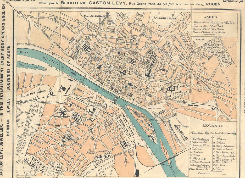 map of rouen dated from World War 1 | This is a map my grand… | Flickr