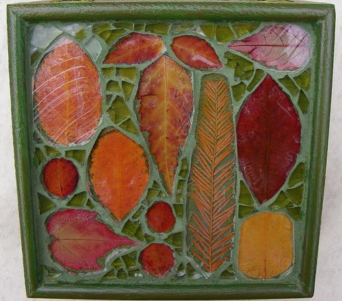 Mosaic box with Autumn leaves | by stiglice - Judit