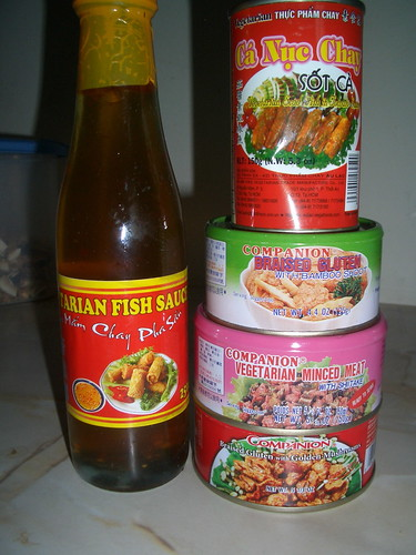 Vegetarian fish sauce mock fish mock minced meat and glu for Vegetarian fish sauce