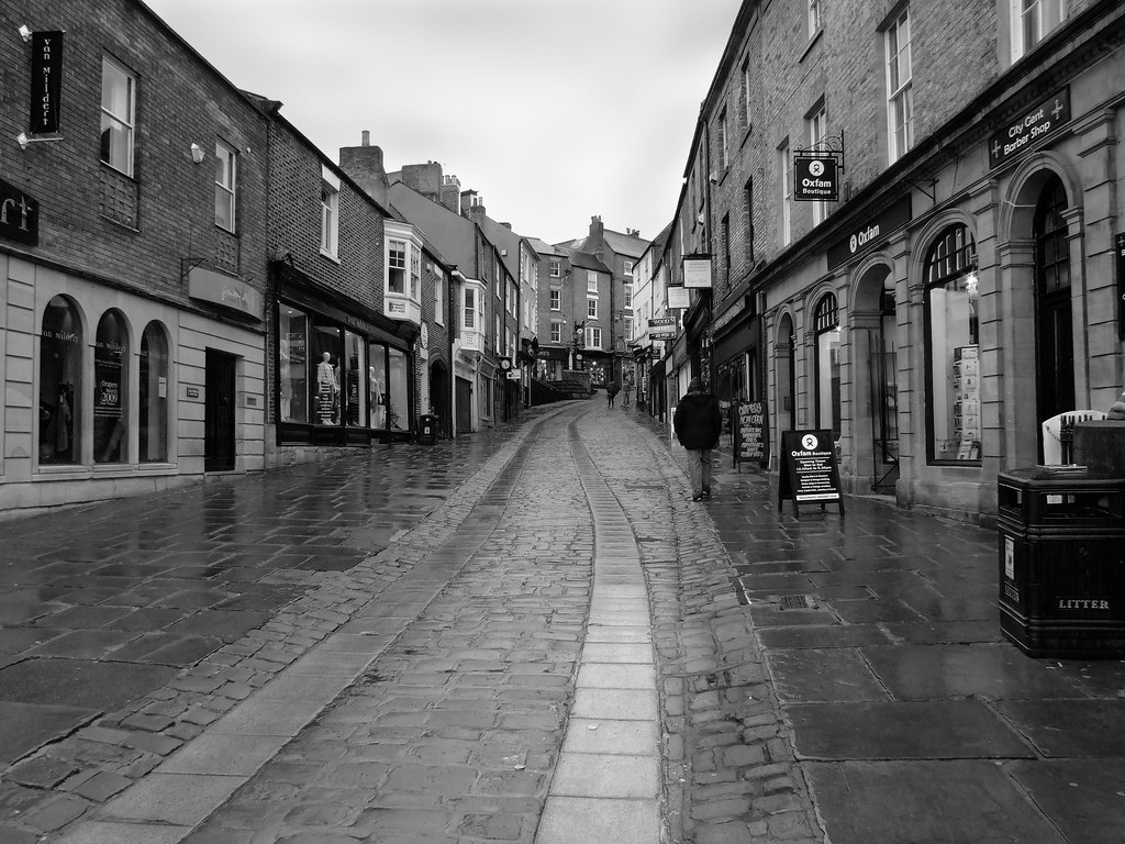 Durham City Centre On A Rather Wet Day Domwlive Flickr