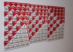 Cig Box Pyramids, dimensions variable, Marlboro boxes and glue | by John Norwood