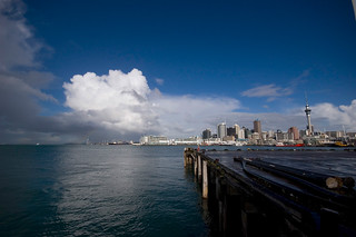 View of Waitemata Harbour with Auckland City in the ground | by W Liew