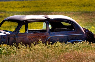 Rusty Car in Field HDR Blend 01 | by Ralph Combs