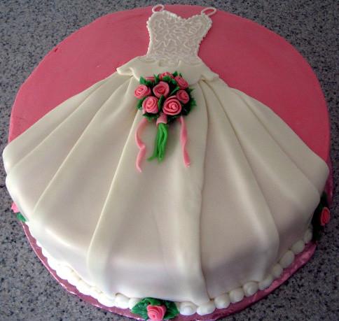 Как сделать платье из мастики на торт 183