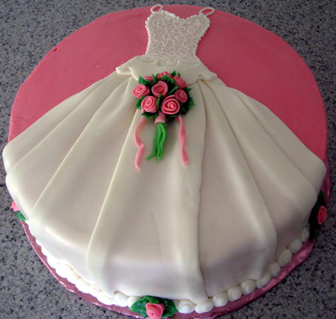 Wedding dress cake | Round cake draped with white chocolate … | Flickr